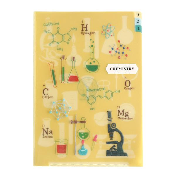 STUDY HOLIC A5ポケットクリアファイル<化学>ST-011