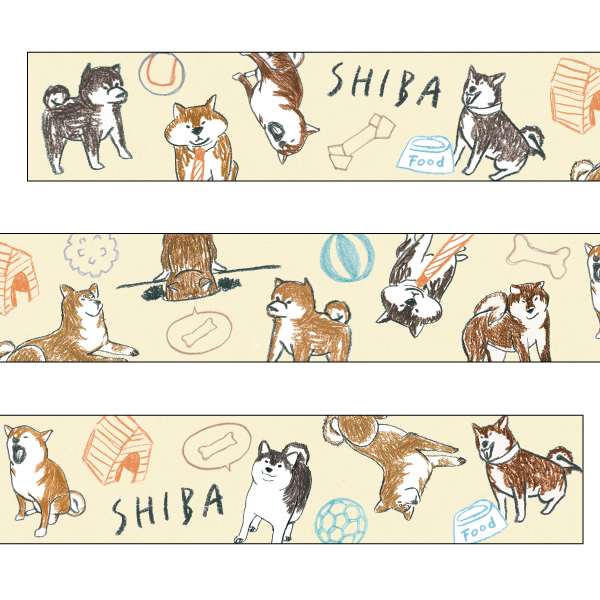 chobit wit マスキングテープ<shibainu>CW-190