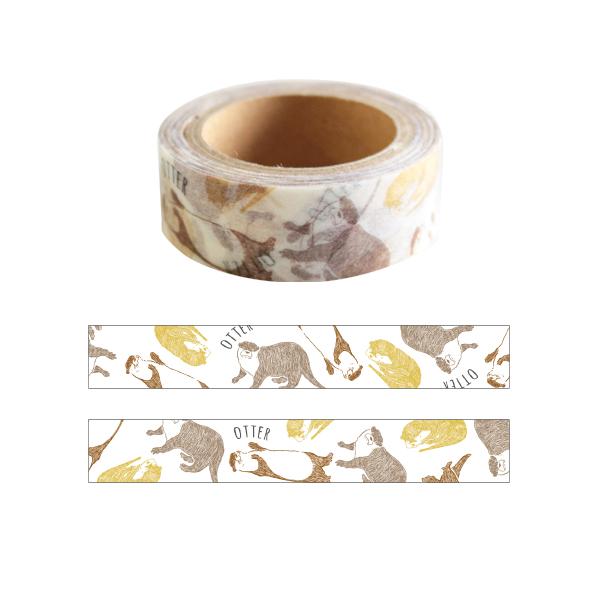 Animal Series マスキングテープ<カワウソ> GF-408