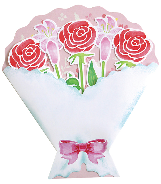 BloomRoom ブーケ色紙<pink>BR-013