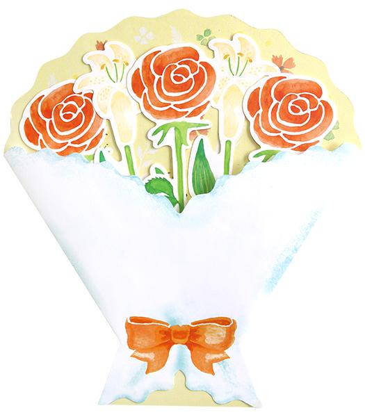 BloomRoom ブーケ色紙<orange>BR-014