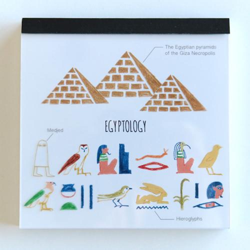 STUDY HOLIC メモパッド・スクエア<古代エジプト学>ST-033