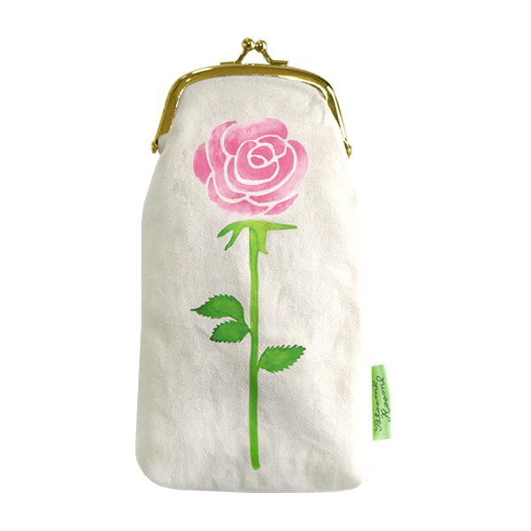 BloomRoom がま口ポーチ<bara/pink>BR-027