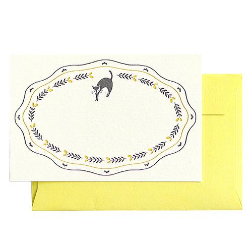 オトメ図案室 ミニカードセット<ネコ野花>OT-009