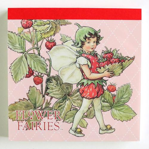 FLOWER FAIRIES メモパッド・スクエア<The strawberry Fairy>FF-135