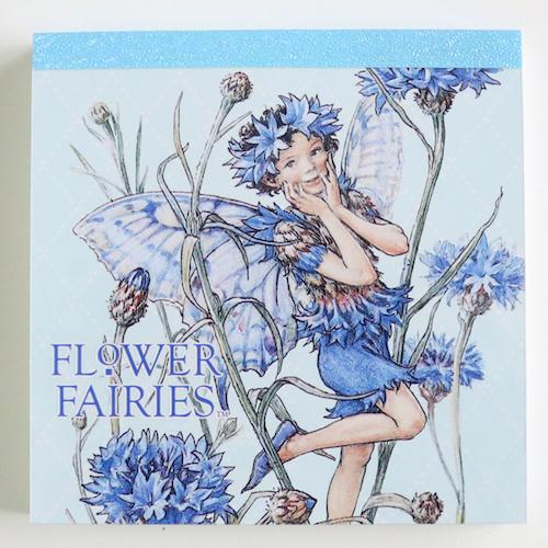 FLOWER FAIRIES メモパッド・スクエア<The Cornflower Fairy>FF-136
