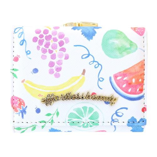effortless beauty 三つ折り財布<fruit>EB-005