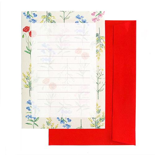 hacoto 箱入りレターセット<botanical>HT-009