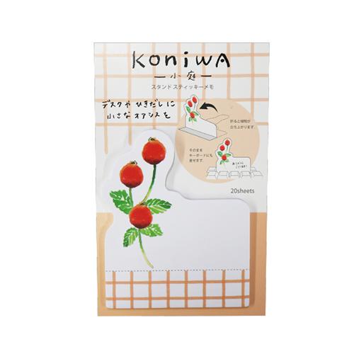 koniwa スタンドスティッキーメモ<ローズヒップ>KW-012