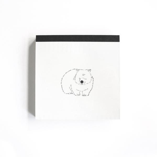 Animal Series メモパッド・スクエア<ウォンバット>GF-445