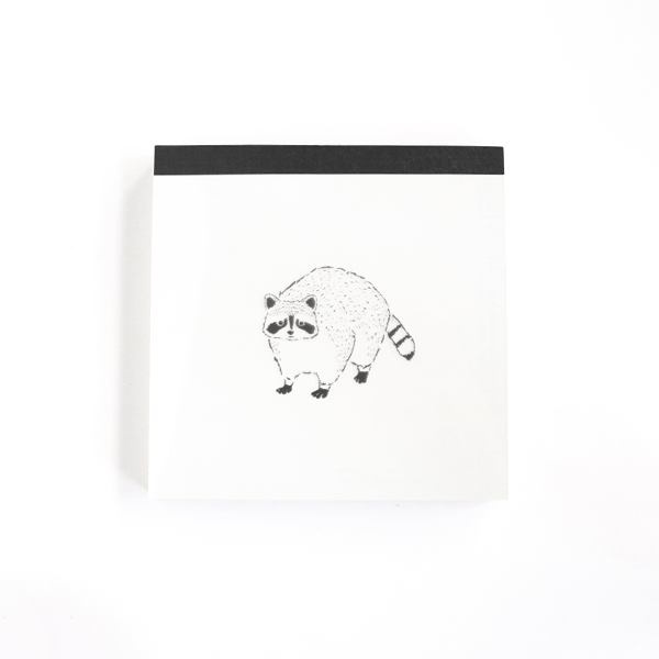 Animal Series メモパッド・スクエア<アライグマ>GF-447
