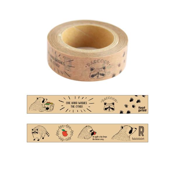 Animal Series マスキングテープ<アライグマ> GF-453