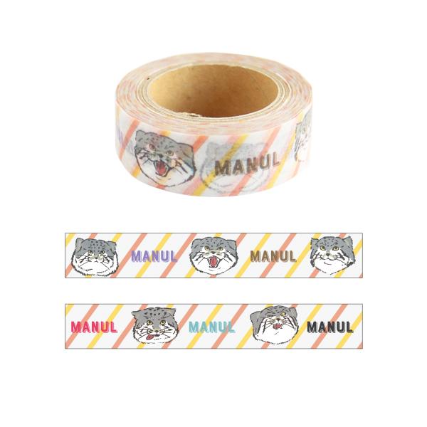 Animal Series マスキングテープ<マヌルネコ> GF-454