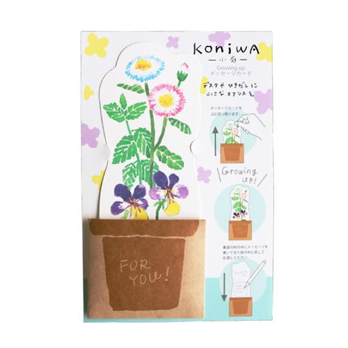 koniwa Growing up メッセージカード<デイジー>KW-019
