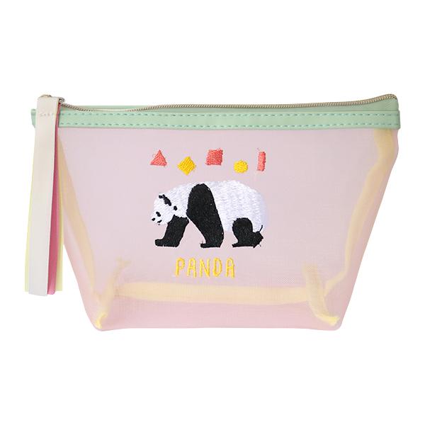 Animal Series マチ付きメッシュポーチ<パンダ> GF-459