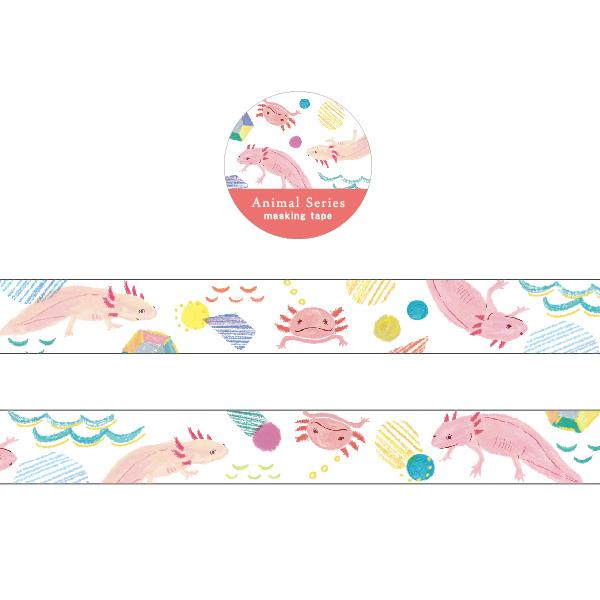Animal Series 金箔マスキングテープ<ウーパールーパー> GF-471