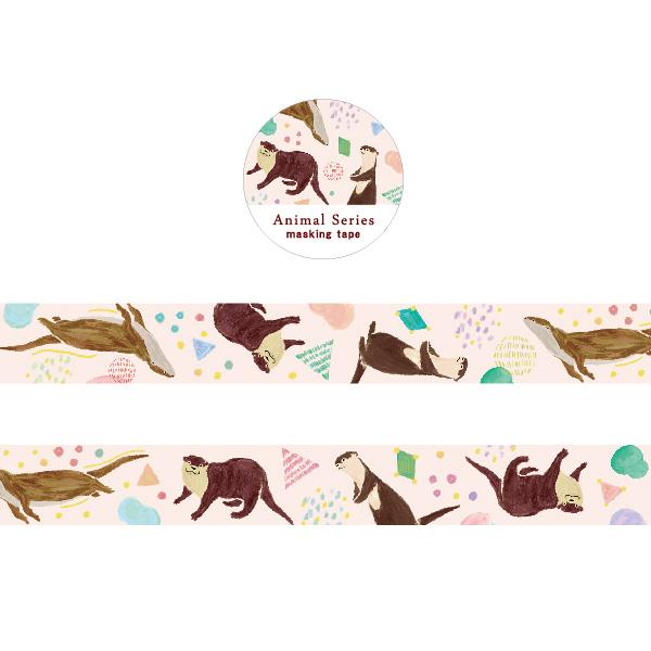Animal Series 金箔マスキングテープ<カワウソ> GF-473