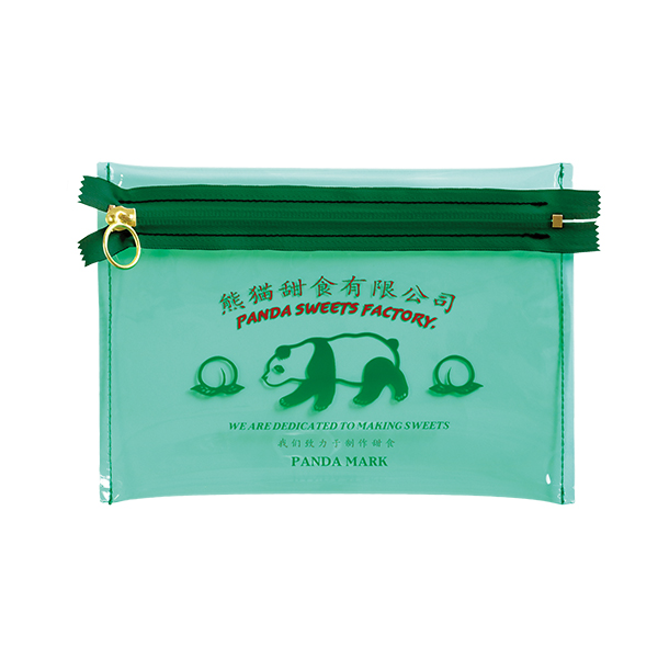 ORIENTAL VOYAGER PVCフラットポーチ<パンダ>OV-028