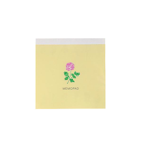 BROOCHIR メモパッド・スクエア<flower>BC-044