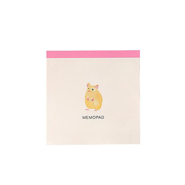 BROOCHIR メモパッド・スクエア<hamster>BC-046