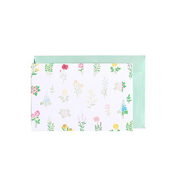 BROOCHIR ミニカードセット<flower>BC-048