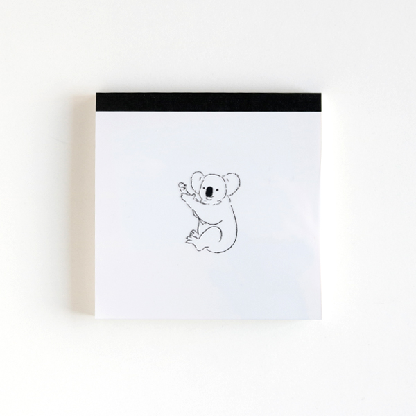 Animal Series メモパッド・スクエア<コアラ> GF-495