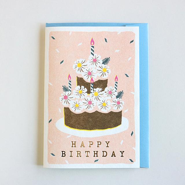 Birthday Card<flower cake>GRD-033