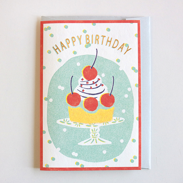 Birthday Card<cherry cake>GRD-034