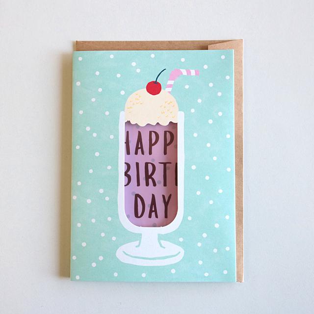 Birthday Card<ピンククリームソーダ>GRD-036