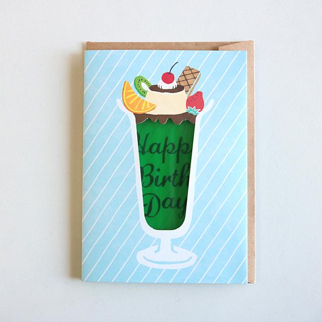 Birthday Card<プリンパフェ>GRD-037