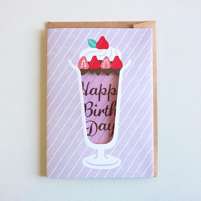 Birthday Card<ストロベリーパフェ>GRD-038