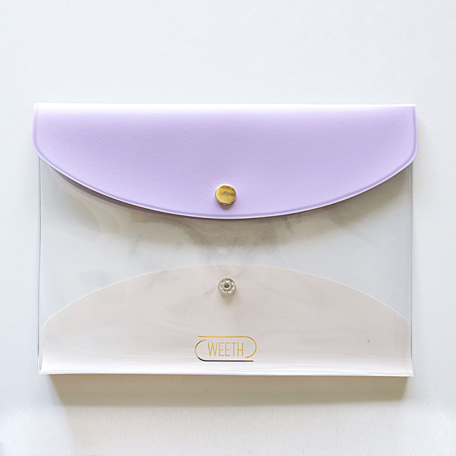 WEETH 抗菌2ポケットポーチ<purple> WE-003