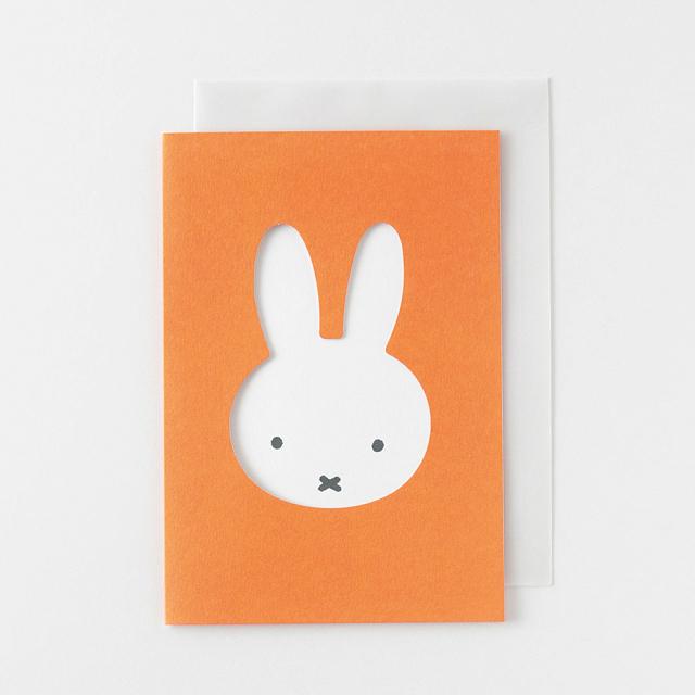 miffy グリーティングカード<face/orange> BM-010