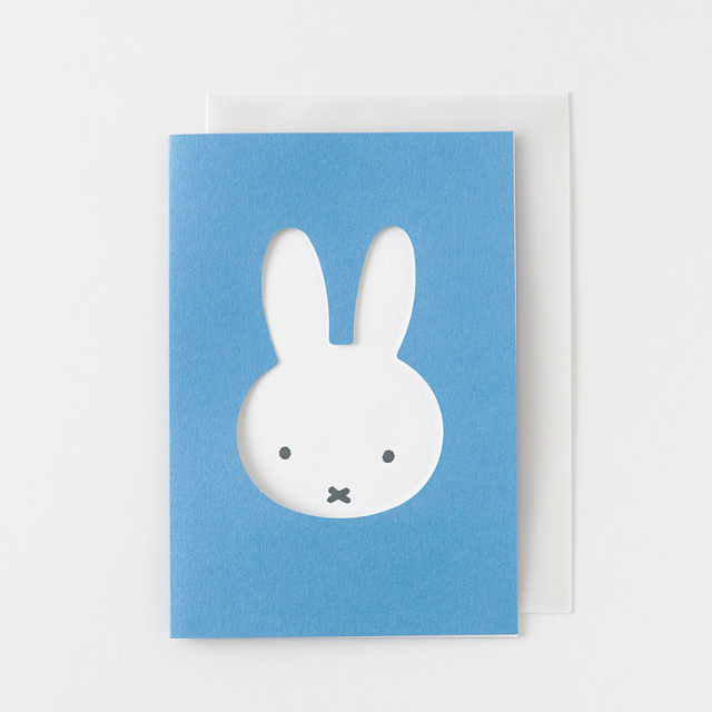 miffy グリーティングカード<face/blue> BM-011