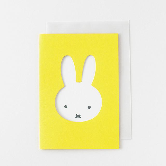 miffy グリーティングカード<face/yellow> BM-012