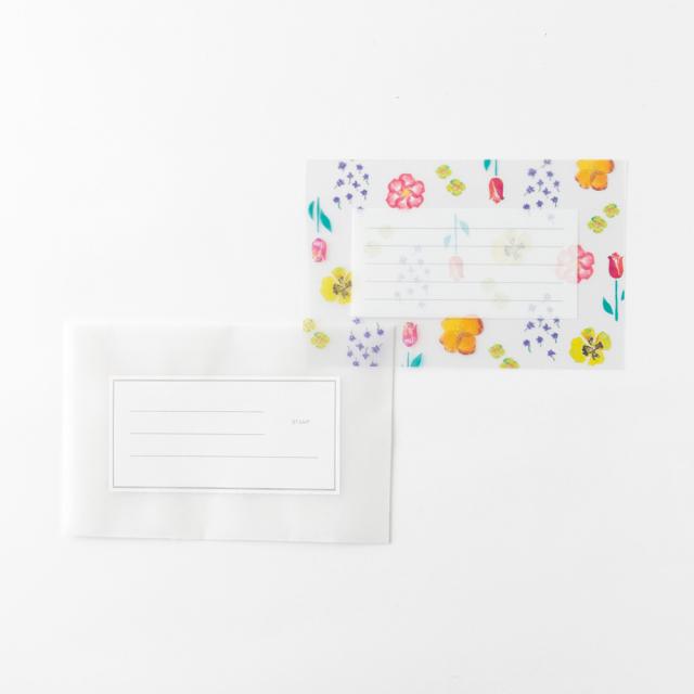KOHAKU トウメイレターセット<flower> KK-003