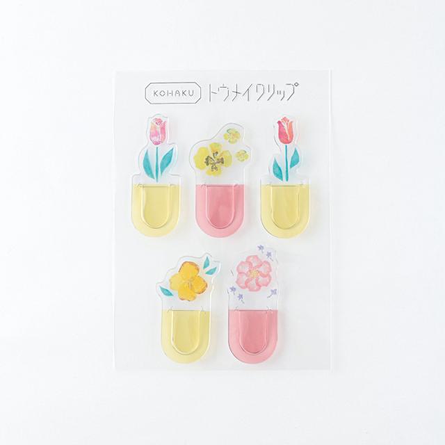 KOHAKU トウメイクリップ<flower> KK-015