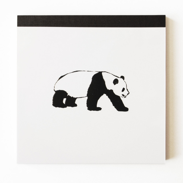 Animal Series メモパッド・スクエア<パンダ>
