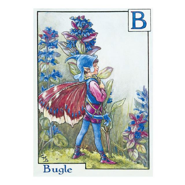 FLOWER FAIRIES ポストカード<Bugle Fiary>