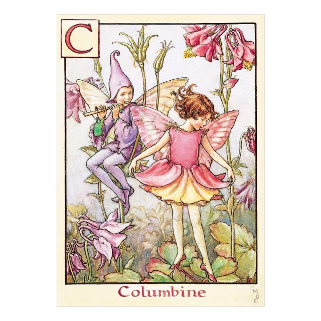 FLOWER FAIRIES ポストカード<Columbine Fairy>
