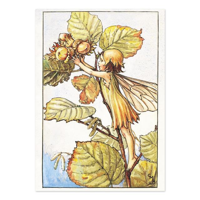 FLOWER FAIRIES ポストカード<Hazel-Nut Fairy>