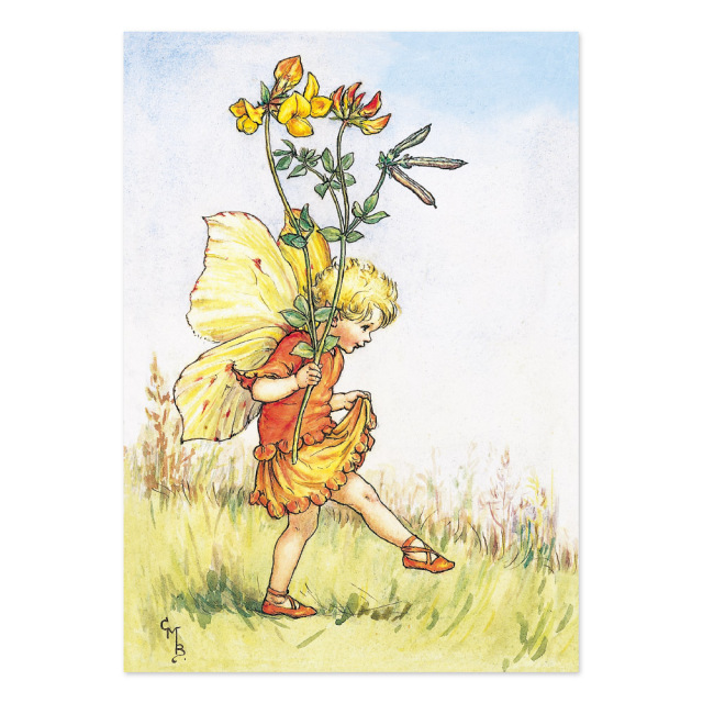 FLOWER FAIRIES ポストカード<Bird's-Foot Trefollv Fairy>
