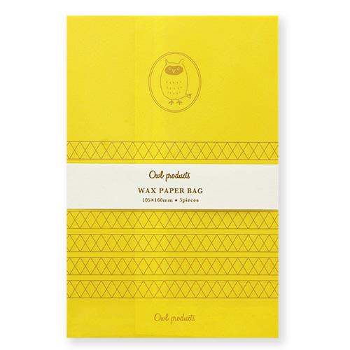 Owl products ワックスペーパーバッグ<yellow>