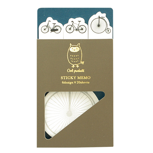 Owl products スティッキーブック<bicycle>