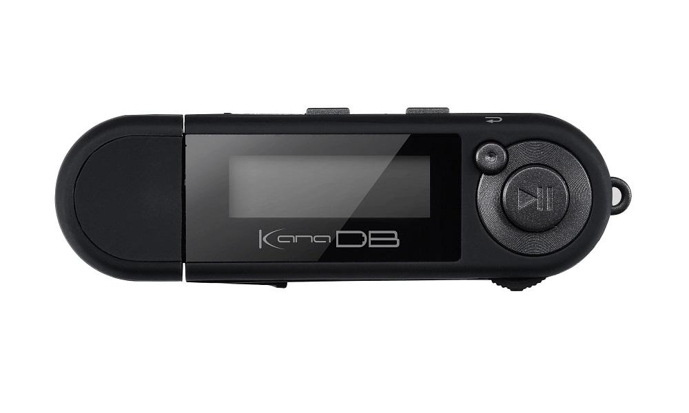乾電池対応 MP3プレーヤー KANA DB 「GH-KANADB8-BK」 ブラック