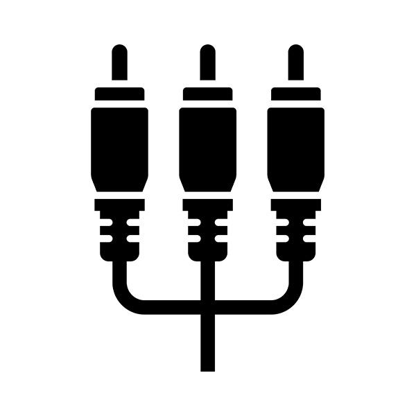 【付属品】ポータブルDVDプレーヤー用AVケーブル 「AVP-11018-B」