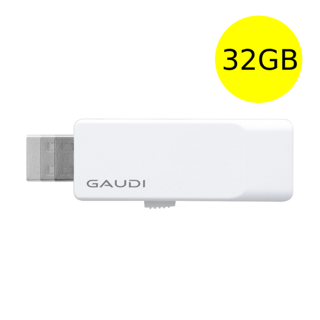 GAUDI USBメモリ 32GB シンプルコンパクトデザイン USB3.0 スライド式 GUD3A32G