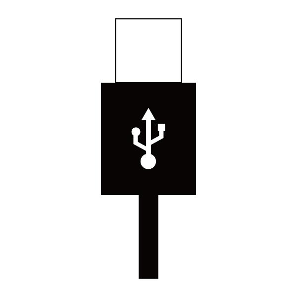 【スペアパーツ】扇風機 GH-FANSWシリーズ専用USBケーブル ホワイト「FANSW-USB」