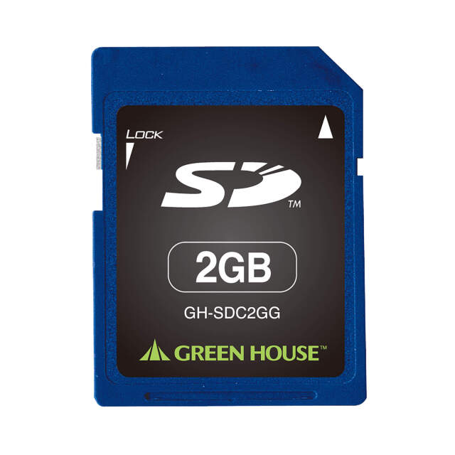 携帯電話やデジタルカメラなどの様々な機器に対応 SDカード 2GB 「GH-SDC2GG」 動作温度0℃~70℃