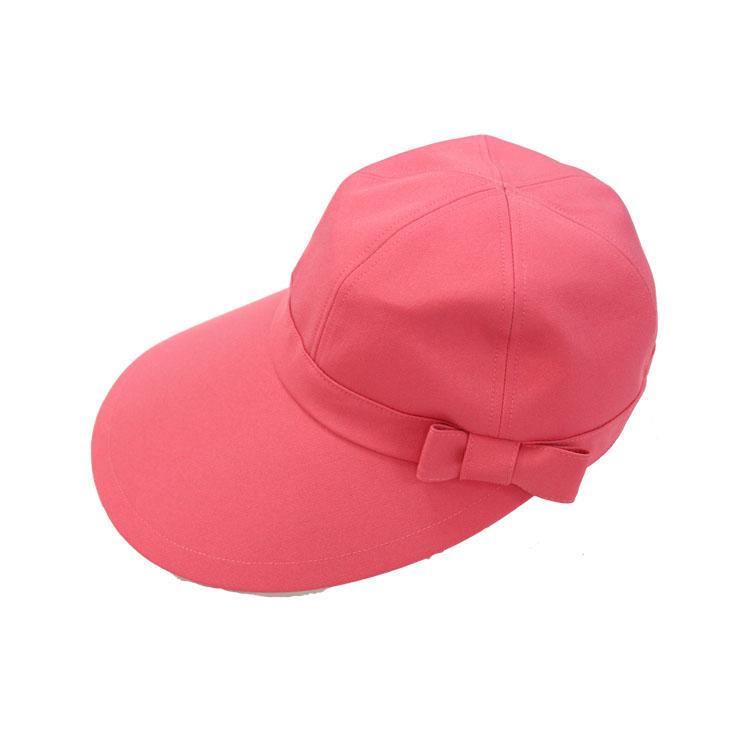 キャディ帽子 (ピンク・リボン付)<特価品>
